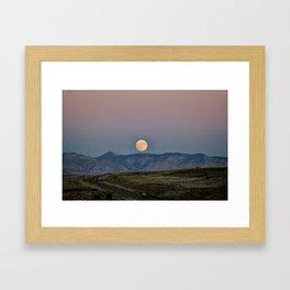 Colorado Supermoon Framed Art Print