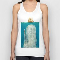 bathroom Tank Tops featuring The Whale - colour option by Terry Fan