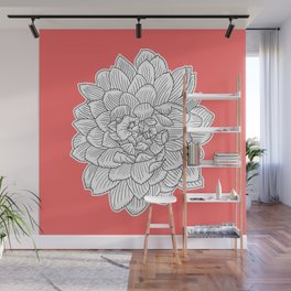 Dahlia flower || Lost Colors Wall Mural