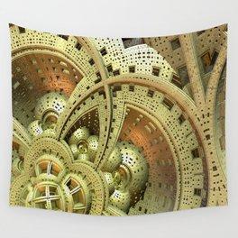 Industrial Steam Punk Cogwheels Wall Tapestry