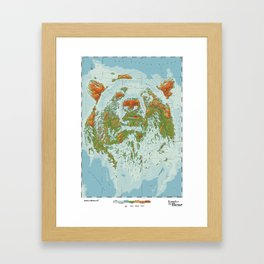 Ursidae - Land of the Bear Framed Art Print