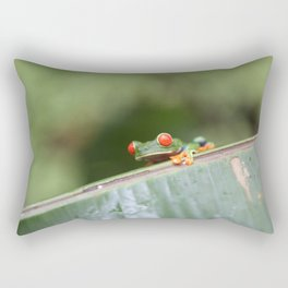 Red eye Frog on leaf Costa Rica Photography Rectangular Pillow