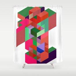 geometric essemble Shower Curtain