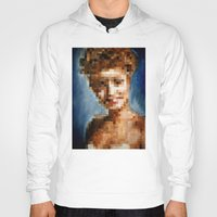 laura palmer Hoodies featuring Who Pixelated Laura Palmer :; Twin Peaks by Kristin Frenzel