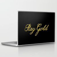 stay gold Laptop & iPad Skins featuring Stay Gold by bitobots
