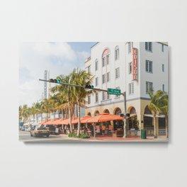 Ocean Drive Miami Metal Print