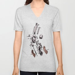 Exploded Gun Unisex V-Neck