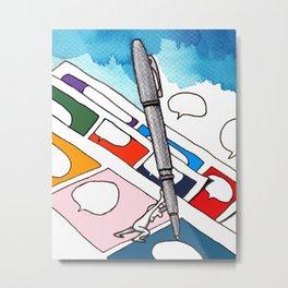 Pencil Pusher Metal Print