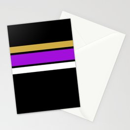 Team Colors 2...Purple, gold Stationery Cards