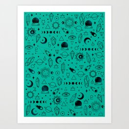 Crystal Pattern Art Print