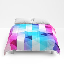 Abstract Triangle Colorful Comforters