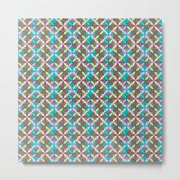 Colorful Moroccan Tiles Mosaic Metal Print