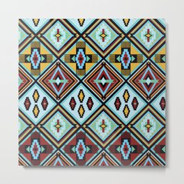 NATIVE AMERICAN PRINT Metal Print