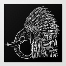 Black Warrior Elephant Canvas Print