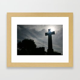cross of destiny Framed Art Print