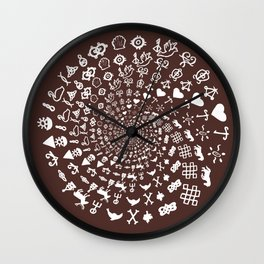 For the Love of Chocolate: Love Symbols Mandala Wall Clock