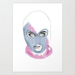 Knitting society.  Art Print