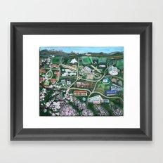 Silicon Valley Through TIme Framed Art Print