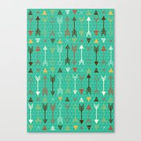 arrows Canvas Prints featuring Arrows by Claire Lordon