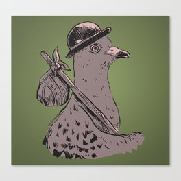 Hobo Pigeon Canvas Print