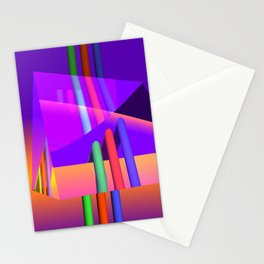 prism and refraction -1- Stationery Cards