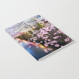 Cherry Blossom in pink   Japan Nakameguro River Notebook