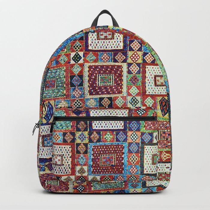 Zili East Anatolia Antique Turkish Rug Print Backpack