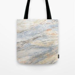 Light Blue Mountain Marble Tote Bag