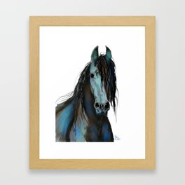BLaCK FRieSiaN HoRSe PRiNT ' THe ONe ' BY SHiRLeY MacARTHuR Framed Art Print