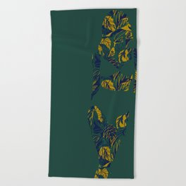 Back to Nature (green and blue) Beach Towel