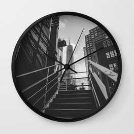 New York City Architecture One World Trade Center Wall Clock