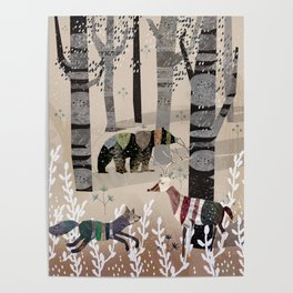 Forest in Sweater Poster