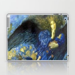 Night with her Train of Stars by Edward Robert Hughes Laptop & iPad Skin