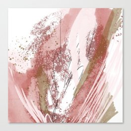 Sugar and Spice: a minimal, abstract mixed-media piece in pink and brown by Alyssa Hamilton Art Canvas Print