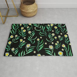 leaves and flowers Rug