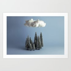 A cloud over the forest Art Print