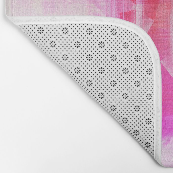 Abstract pink energetic Bath Mat