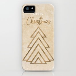Gold Christmas tree iPhone Case