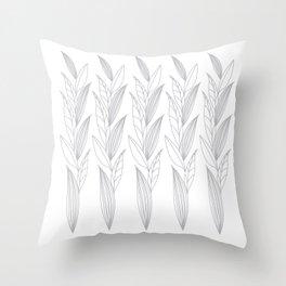Eternity in Silver Leaf II Throw Pillow