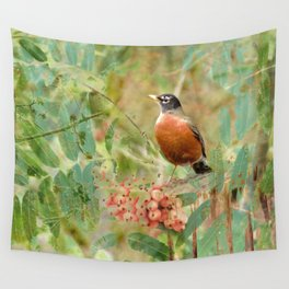 Robin's Wood Wall Tapestry