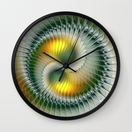 Like Yin and Yang, Abstract Fractal Art Wall Clock