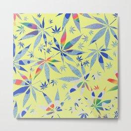 Abstract Marijuana Pattern 8 Metal Print