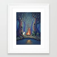 moomin Framed Art Prints featuring Moomin's night by nokeek