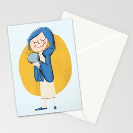 Maria and little Jesus Stationery Cards