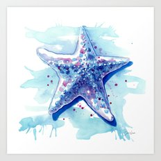 Starfish Waters I Art Print