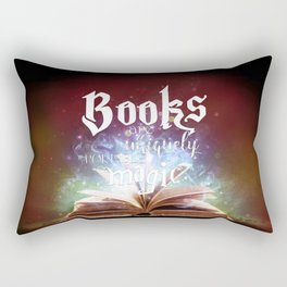Books Are A Uniquely Portable Magic Rectangular Pillow