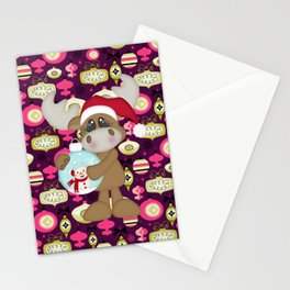 Christmas Ornaments Moose Stationery Cards