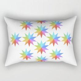 Rainbow Stars Rectangular Pillow