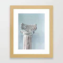 Corinthian capital Framed Art Print