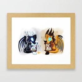 Let's do a time warp!! Framed Art Print